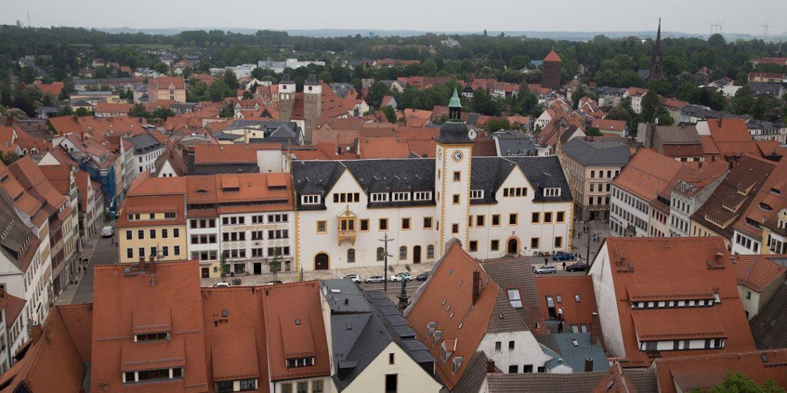 Freiberg von oben
