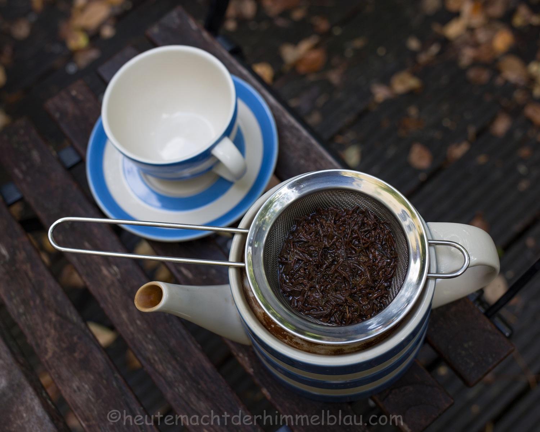 Eine Tasse Tee gefällig...? - HEUTE MACHT DER HIMMEL BLAU