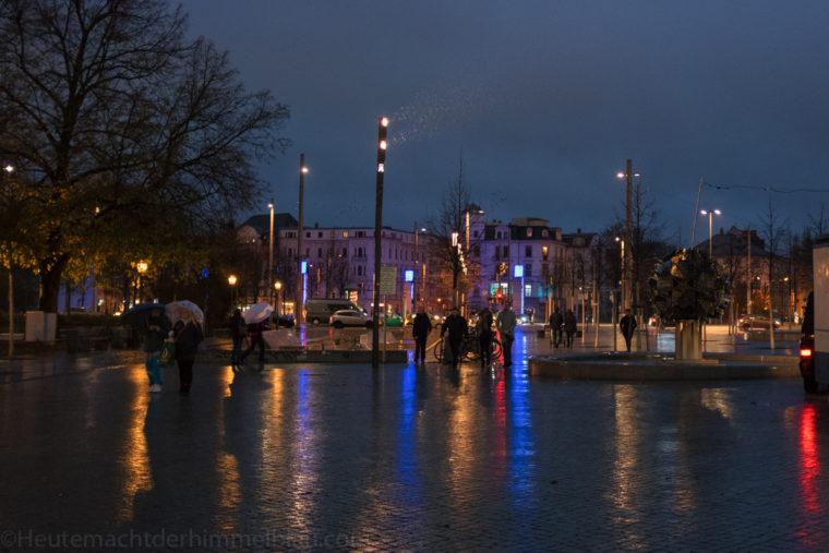 Leipzig bei Regen