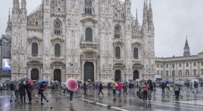 Mailand im Regen